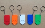 plastic trolley coin holder keychain
