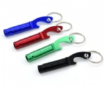 whistle and bottle opener keychain
