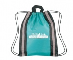 reflective drawstring bag with handle