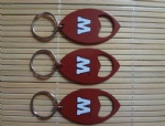 American football/rugby shape opener keychain