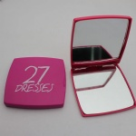 plastic portable makeup mirror/double sides pocket mirror